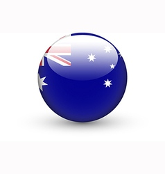 Round icon with national flag of australia vector