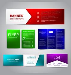 Corporate identity set vector