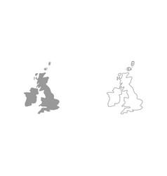 map of united kingdom it is icon vector image