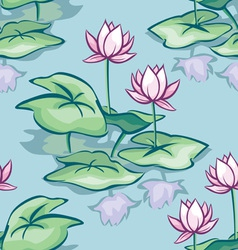 Lotus seamless vector