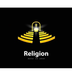 Religion logo design template church or temple vector