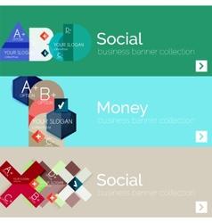Flat modern info banner set vector