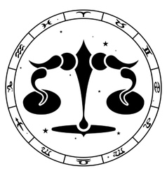 Zodiac sign libra vector