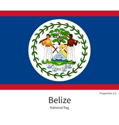 National flag of belize with correct proportions vector
