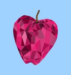 Polygon apple image vector