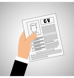Human resources document design vector
