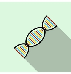 Dna strand icon flat style vector