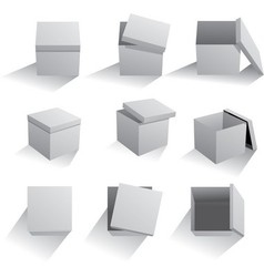 Set of boxes vector