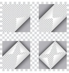 Set of four curl papers vector