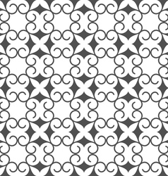 Monochrome abstract seamless stylized flower vector image