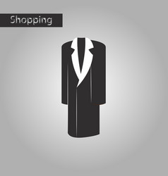 black and white style icon mans coat vector image