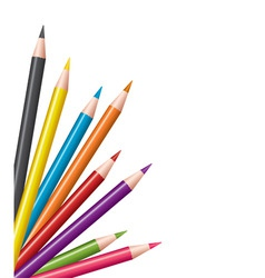 Colored pencils vector