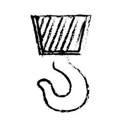 Construction hook crane vector image