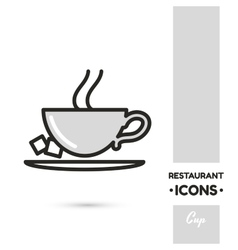 Cup restaurant icon collection vector