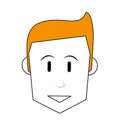 Face of happy man icon image vector
