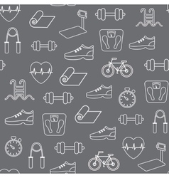 Fitness seamless pattern background vector