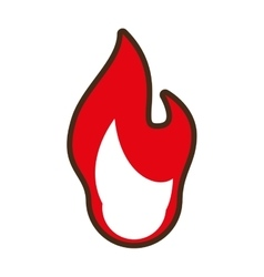 Flame fire red symbol icon vector
