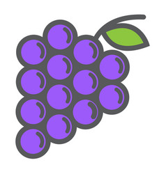 grapes line icon fruit and vitamin vector image