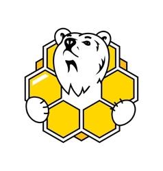 Honey bear sign vector