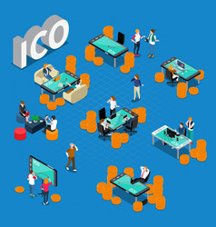 Ico concept isometric composition vector