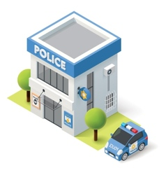 isometric police department vector image vector image