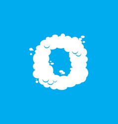 Letter o cloud font symbol white alphabet sign on vector