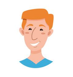 male emoji cartoon character vector image