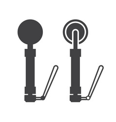 metal detector icon vector image