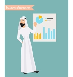 People character arab man business character vector