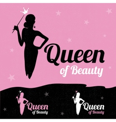 Queen of beauty logo design vector