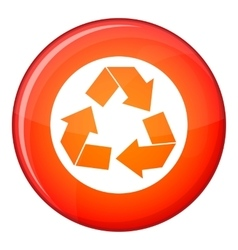Recycle sign icon flat style vector