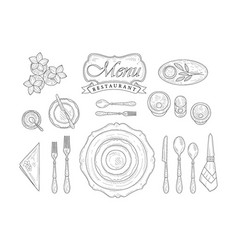 Restaurant table appointment vector