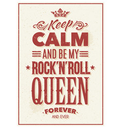 Rock queen typography vector