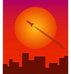 Rocket SunDown vector image vector image