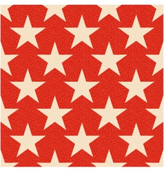 Seamless red stars background vector