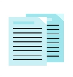 Sheet paper with list vector