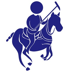 Sport icon for polo in blue vector image