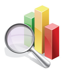 Stat search vector image vector image