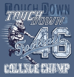 touchdown football vector image vector image