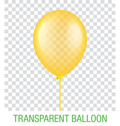 Transparent yellow ballon vector