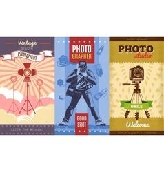 Vintage Photographer Poster Set vector image vector image