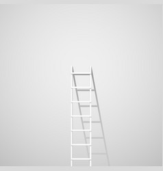 white ladder against wall vector image