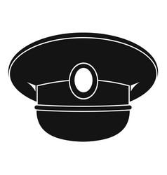 White nautical hat icon simple vector