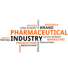 Word cloud - pharmaceutical industry vector