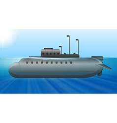 Submarine under the ocean vector