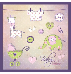 Babz shower elements vector image