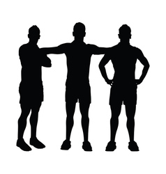 Men group posing vector