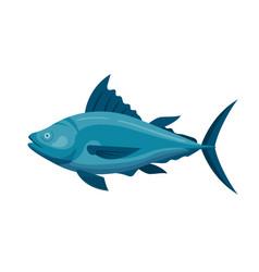sea tuna fish vector image