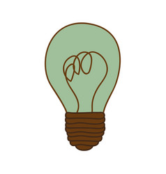 Silhouette of light bulb with turquoise glass vector