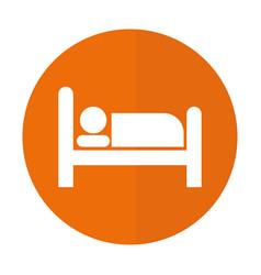 Hotel sign icon vector